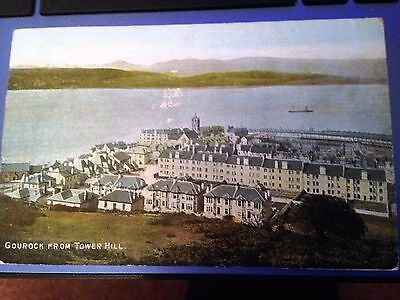 Gourock From Tower Hill   Posted  1907  Very Clean