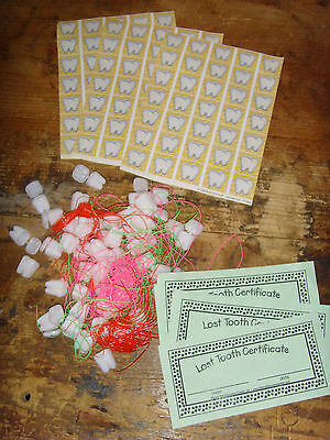 School set Lost tooth necklace certificate and stickers set for Teachers Daycare