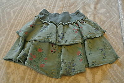 Girls  Khaki Floral Ra Ra Skirt from Next, Size 4 Years