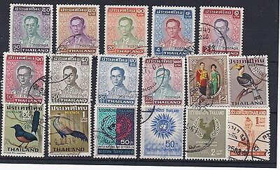 THAILAND (SRU560) Card of 17 x 1960- 1970s   values - All fine to very fine used