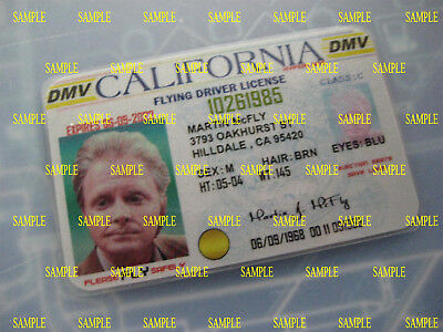 Back to the Future 2 -Old Marty McFly License - Prop - Cosplay - Novelty - B3G1F