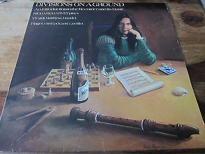 Richard Harvey - Divisions On A Ground (Ex Gryphon) - Very Rare Lp In Vg + Con
