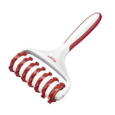 Westmark - Dough Strip Cutter with 7 Wheels to Cut Uniform Strips - White & Red
