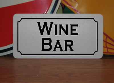 WINE BAR Metal Sign Vintage Style Ladies Red White Bottle Cork Box