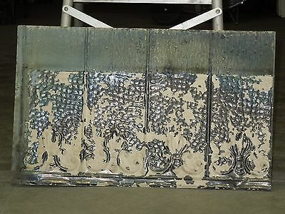 "Old Antique ( Metal )  tin ceiling tile tiles 24""x 15"" filler, backsplash?"