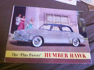 1950s Rootes Humber Hawk Original Color Brochure Prospekt