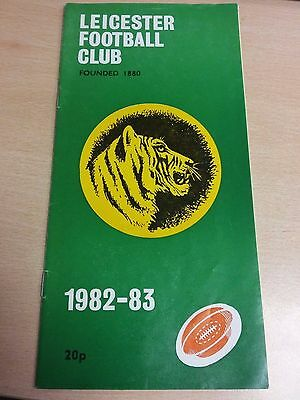 Leicester Football Club (Tigers) 1982 [Leicester vs. Nottingham] programme