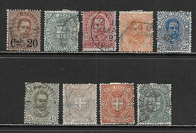 ITALY  1890-1897 Used Issues Selection (Nov 0195)
