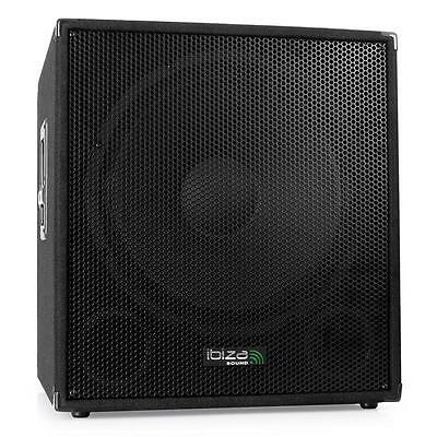Ibiza Profi Aktiv Dj Pa Subwoofer 46Cm Disco Bi Amp Bass Box 800W Party Sound