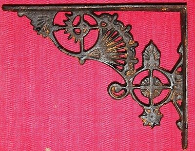 "(2)pcs, 8 1/2"" ELEGANT FAN CAST IRON SHELF BRACKETS, VINTAGE LOOK, MEDIUM, B-17"