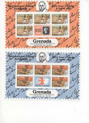Grenada London 1980 Stamp Exhibit /Rowland Hill Centenary 4 Souvenir Sheets MNH