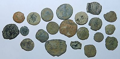 21  X  ANCIENT BRONZE COINS - For Cleaning and Study