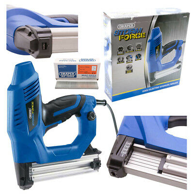 Draper Storm Force Electric Stapler/Nailer Kit with Extra 5000 Brad Nails (30mm)