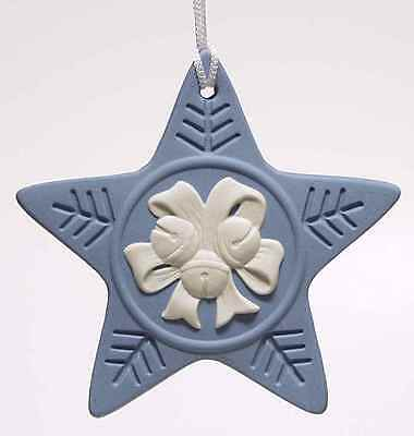 Wedgwood JASPERWARE Christmas ORNAMENT 2005 Jingle Bell Star 4636929