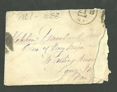 April 1883 Cover Envelope Stamped 21B Long Island N.Y. With Letter