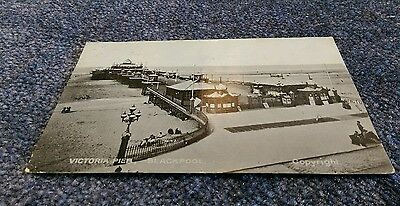 Vintage Postcard Victoria Pier Blackpool to Sheffield 1906