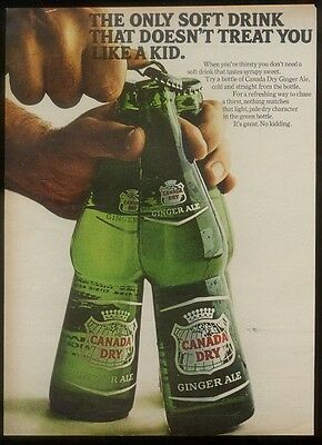1966 Canada Dry Ginger Ale classic bottles photo ad
