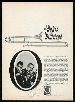 1966 The Dukes of Dixieland photo Olds trombone vintage print ad