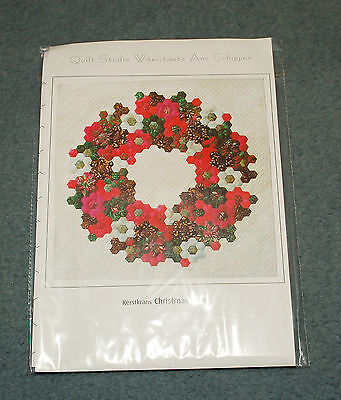 NEW Quilted Christmas Rose Wreath Pattern by Ans Schipper