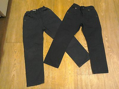 Boys Dark Blue Jeans Trousers Size 5-6 yrs x 2