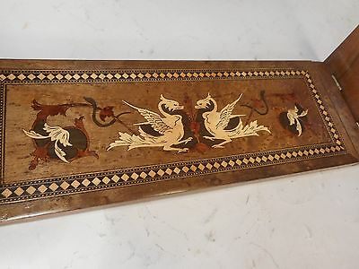 Antique Sorrento Ware Extending Book Slide , Book Ends , Rack , Shelf, ref 1973