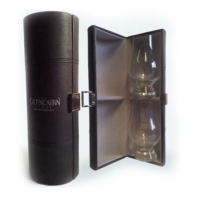 New Set Of Bar Clear Whiskey Glencairn Travel Case Set with Lined Interior