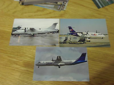 """3 x colour(6x4"""")photographs of airlines that fly/flew ATR42/72 aircraft"""