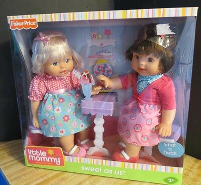 New Little Mommy Fisher Price Sweet as us Twin dolls