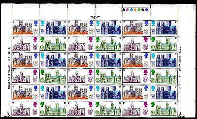 (18) VERY GOOD COMPLETE SHEET OF 72 QEII 5d CATHEDRALS (sg796-9) UNMOUNTED MINT