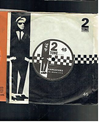 Special A.k.a. Gangsters/selecter 45 2 Tone 1979 Paper Label
