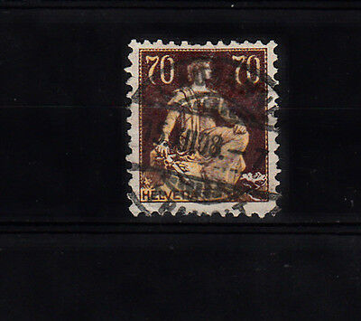 A very nice old Swiss 70 Cents Yellow/Brown 1907 issue