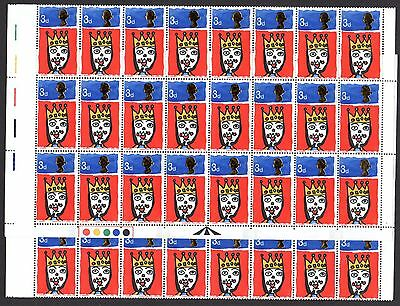 (19) VERY GOOD COMPLETE SHEET OF 1966 QEII 3d CHRISTMAS (sg713p) UNMOUNTED MINT
