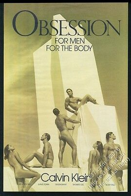 1987 Bruce Weber photo Calvin Klein Obsession for Men poster-sized print ad