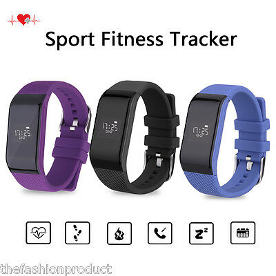 Bluetooth Heart Rate Smart Watch Sport Bracelet Fitness Tracker for Android IOS
