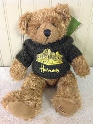 "Free Shipping!! Harrods London Knightsbridge 12"" Teddy Bear with Sweater"
