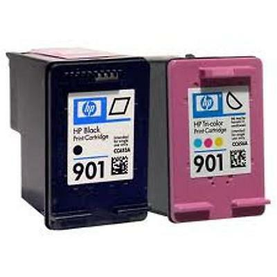 HP #901 Black Color Ink Cartridge Combo GENUINE NEW