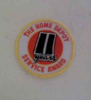 LMH Patch The Home Depot 11 Years Service Award