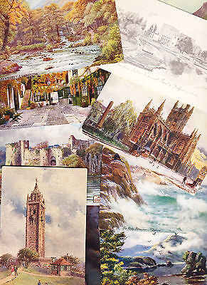 UK topographical - 19 artist drawn post cards