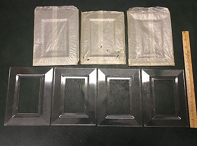 Set of 4 Vintage Clear Light Switch Plate Covers Wall Protectors NOS