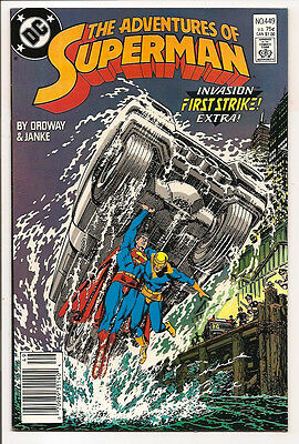 The Adventures Of Superman #449 Original Owner Collection! Mr. D Copy! Ordway!