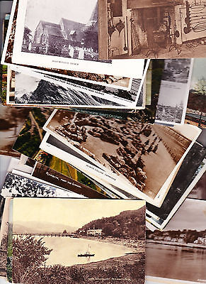 UK topographical - 50 old post cards