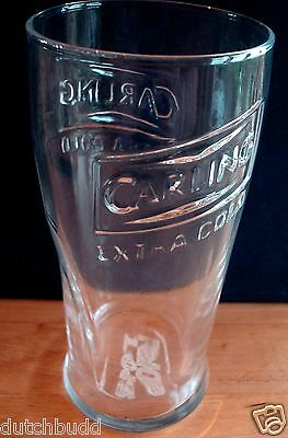 New Uk / British - Carling Extra Cold Lager Embossed Pint Beer Glass (2007).