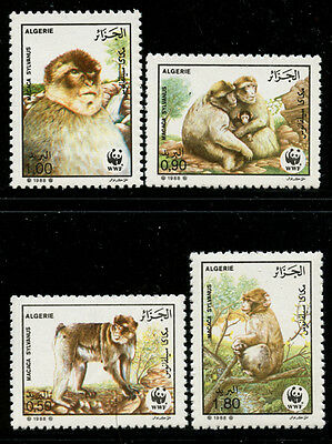 Algeria 1988 World Wildlife Fund set Sc# 872-75 NH