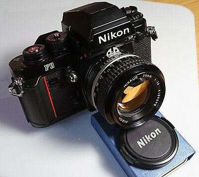 Nikon F3HP Film Camera with Nikkor 1.4 AIS Mint Condition