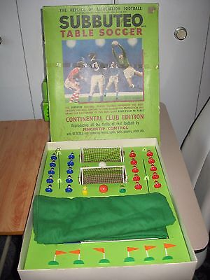 Subbuteo Continental Club Edition Complete - Heavyweight Molded Players