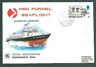 1969 HYDROFOIL Cover - Red Funnel COWES to SOUTHAMPTON