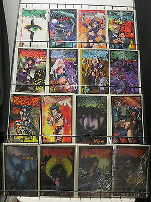 Everett Hartsoe's Razor Lot of 16 Bodacious Bad Girl Comics Vigilante Justice!