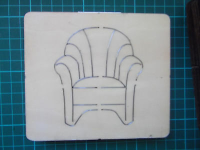 'SANTA'S ' ARMCHAIR * Cross-Cuts  retired wooden die cutter + FREE GIFTS!