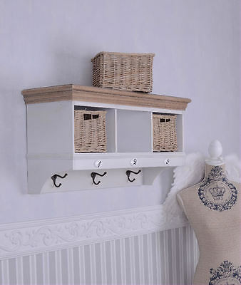 Coat Rack Wall Mounted Hook Wall Shelf Shabby Chic Kitchen Shelves Cottage