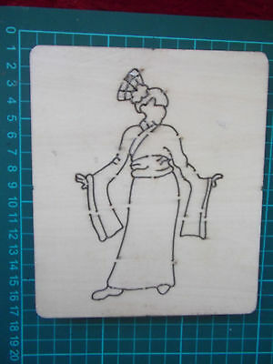 ORIENTAL GEISHA GIRL * Cross-Cuts  RARE *retired wooden die cutter + FREE GIFTS!